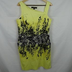 NINE WEST Yellow Sleeveless Dress w/ Pockets Sz 16